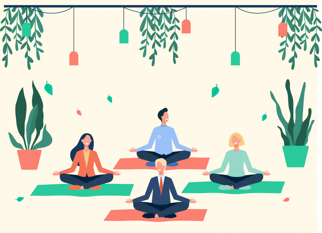 Meditacion en oficina