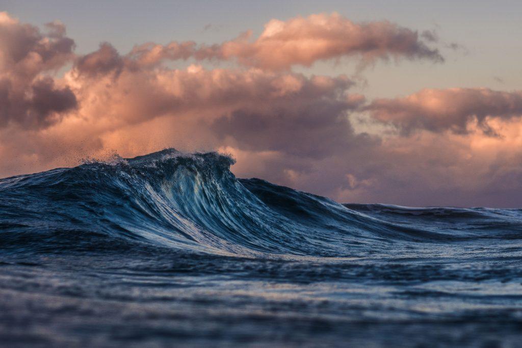 Olas de mar para relajarse