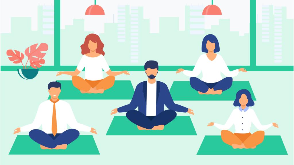 Meditacion en la oficina